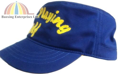 custom hemp twine embroidery military hat-BAOXING