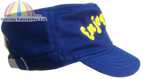 custom hemp twine embroidery military hat-BAOXING ENTERPRISES LTD